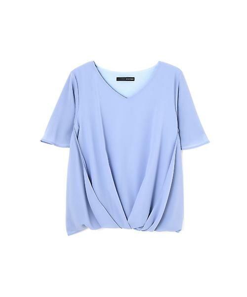 22 OCTOBRE / ヴァンドゥー・オクトーブル Tシャツ | [ウォッシャブル]サイドタックブラウソー(サックス1)