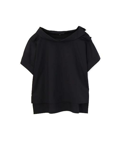 22 OCTOBRE / ヴァンドゥー・オクトーブル シャツ・ブラウス | [洗える]ロールカラーブラウス(ブラック)