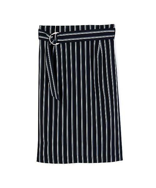 22 OCTOBRE / ヴァンドゥー・オクトーブル スカート | [洗える]マルチストライププリントスカート | 詳細1