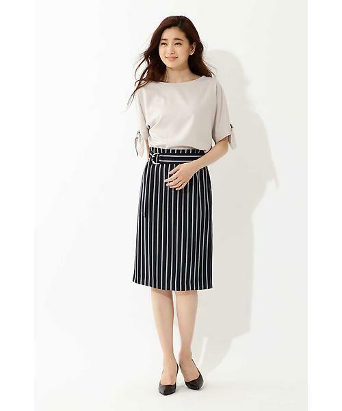 22 OCTOBRE / ヴァンドゥー・オクトーブル スカート | [洗える]マルチストライププリントスカート | 詳細2