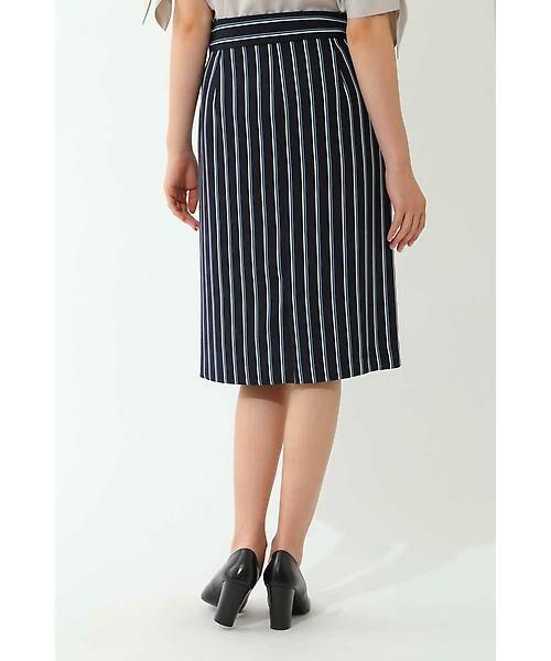 22 OCTOBRE / ヴァンドゥー・オクトーブル スカート | [洗える]マルチストライププリントスカート | 詳細3