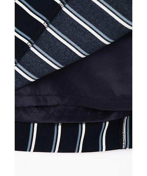 22 OCTOBRE / ヴァンドゥー・オクトーブル スカート | [洗える]マルチストライププリントスカート | 詳細6