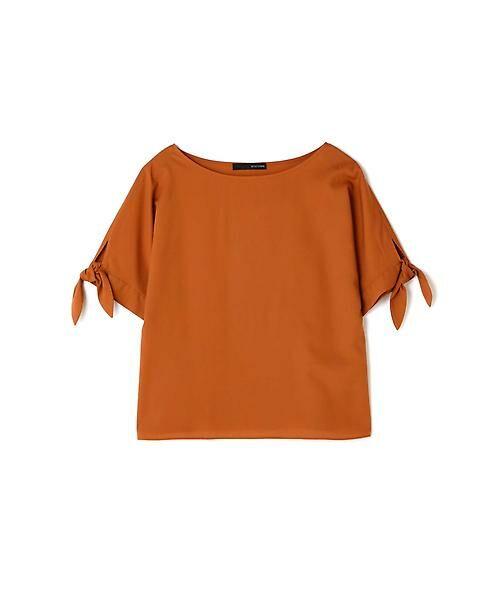22 OCTOBRE / ヴァンドゥー・オクトーブル シャツ・ブラウス | [洗える]スリーブノットブラウス(オレンジ)