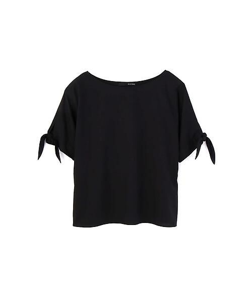 22 OCTOBRE / ヴァンドゥー・オクトーブル シャツ・ブラウス | [洗える]スリーブノットブラウス(ブラック)