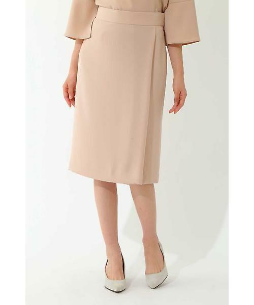 22 OCTOBRE / ヴァンドゥー・オクトーブル スカート | ◆ツイルラップ風スカート(ピンク)