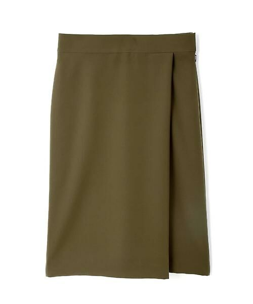 22 OCTOBRE / ヴァンドゥー・オクトーブル スカート | ◆ツイルラップ風スカート(カーキ)