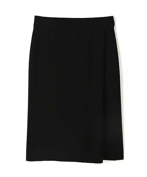 22 OCTOBRE / ヴァンドゥー・オクトーブル スカート | ◆ツイルラップ風スカート(ブラック)