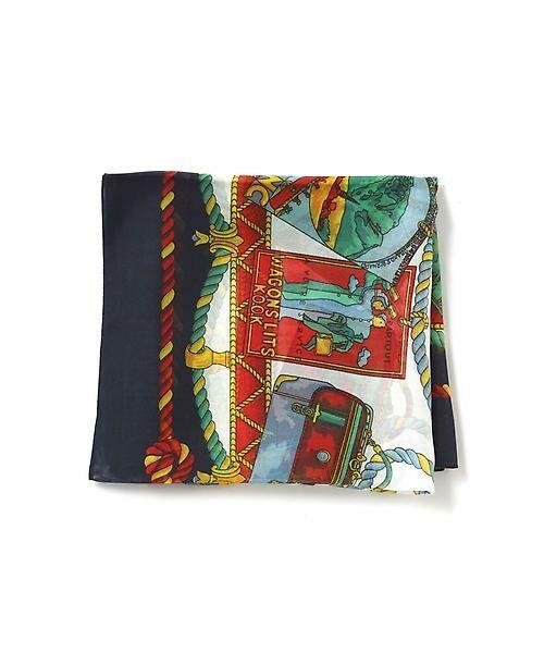 22 OCTOBRE / ヴァンドゥー・オクトーブル 服飾雑貨 | スカーフ(ネイビー)