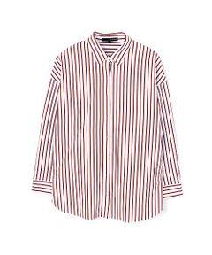 コンパクトに編んだ生地にシルケット加工を施して表面を美しく仕上げて洗濯を繰り返してしても、毛羽立ちが少なく、肌に触れたときに冷たく感じる接触冷感加工をし、夏でも快適に着用できるジャージーシャツです。スッキリとしたストライプがエレガントで爽やかです。