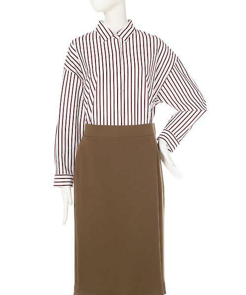 22 OCTOBRE / ヴァンドゥー・オクトーブル シャツ・ブラウス | ◆ストライプジャージーシャツ | 詳細1