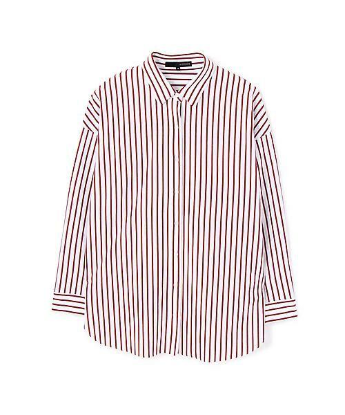 22 OCTOBRE / ヴァンドゥー・オクトーブル シャツ・ブラウス | ◆ストライプジャージーシャツ(ピンコッタ5)