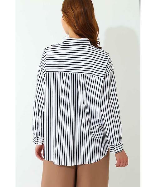 22 OCTOBRE / ヴァンドゥー・オクトーブル シャツ・ブラウス | ◆ストライプジャージーシャツ | 詳細5