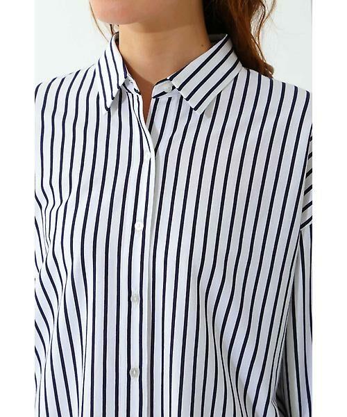 22 OCTOBRE / ヴァンドゥー・オクトーブル シャツ・ブラウス | ◆ストライプジャージーシャツ | 詳細7