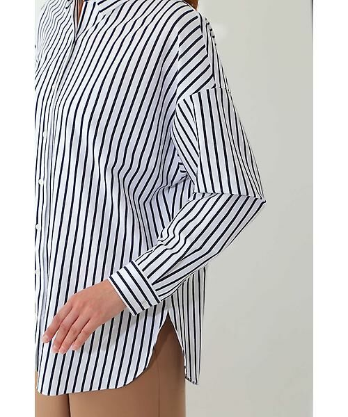 22 OCTOBRE / ヴァンドゥー・オクトーブル シャツ・ブラウス | ◆ストライプジャージーシャツ | 詳細8