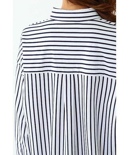 22 OCTOBRE / ヴァンドゥー・オクトーブル シャツ・ブラウス | ◆ストライプジャージーシャツ | 詳細9