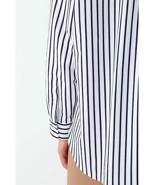 22 OCTOBRE / ヴァンドゥー・オクトーブル シャツ・ブラウス | ◆ストライプジャージーシャツ | 詳細10