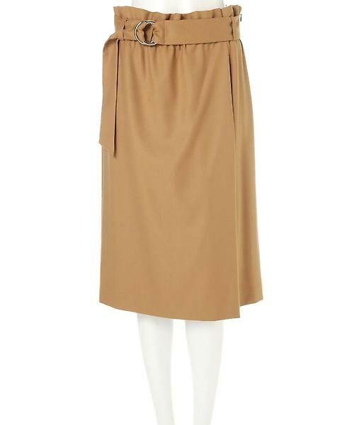 22 OCTOBRE / ヴァンドゥー・オクトーブル スカート | ハイウエストラップ風スカート | 詳細1