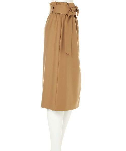 22 OCTOBRE / ヴァンドゥー・オクトーブル スカート | ハイウエストラップ風スカート | 詳細3