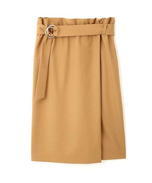 22 OCTOBRE / ヴァンドゥー・オクトーブル スカート | ハイウエストラップ風スカート(キャメル5)