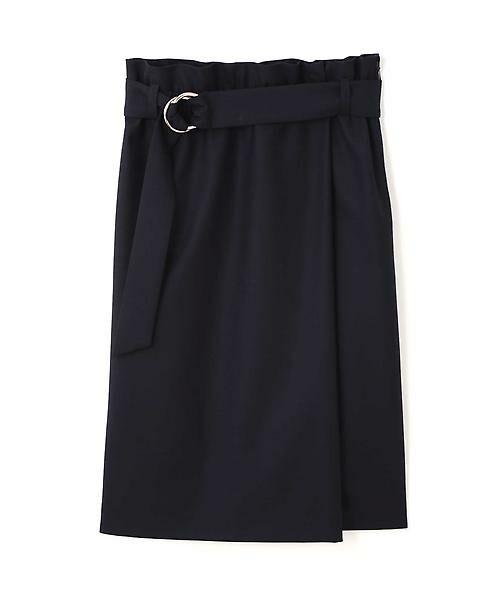 22 OCTOBRE / ヴァンドゥー・オクトーブル スカート | ハイウエストラップ風スカート(ネイビー)