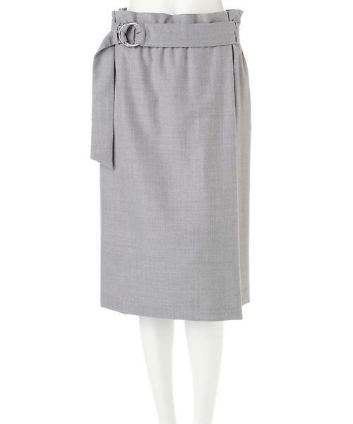 22 OCTOBRE / ヴァンドゥー・オクトーブル スカート | ハイウエストラップ風スカート | 詳細13
