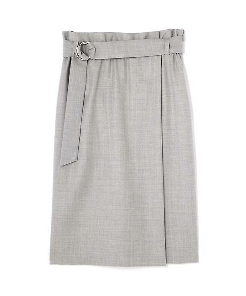 22 OCTOBRE / ヴァンドゥー・オクトーブル スカート | ハイウエストラップ風スカート(グレー)