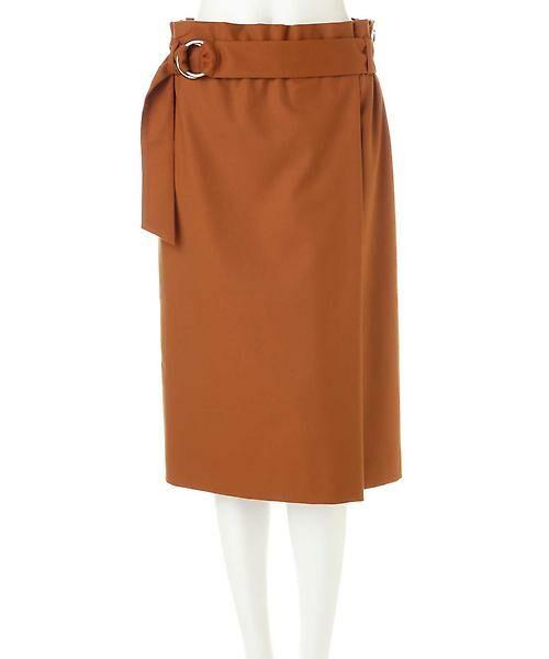 22 OCTOBRE / ヴァンドゥー・オクトーブル スカート | ハイウエストラップ風スカート | 詳細15