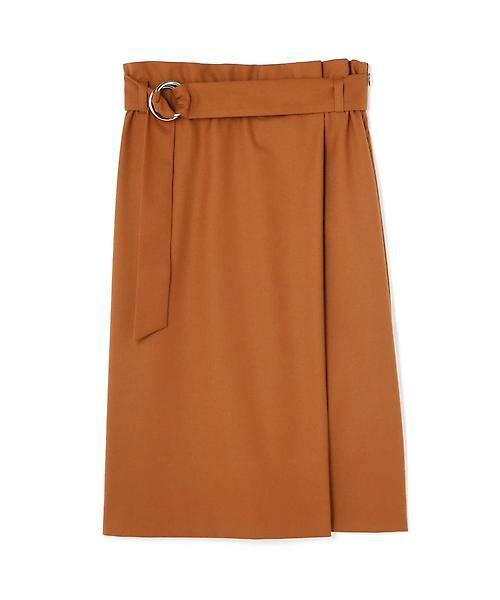 22 OCTOBRE / ヴァンドゥー・オクトーブル スカート | ハイウエストラップ風スカート(オレンジ)
