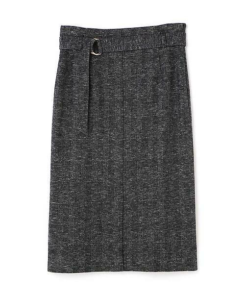 22 OCTOBRE / ヴァンドゥー・オクトーブル スカート | コットンウールジャージースカート(ブラック)