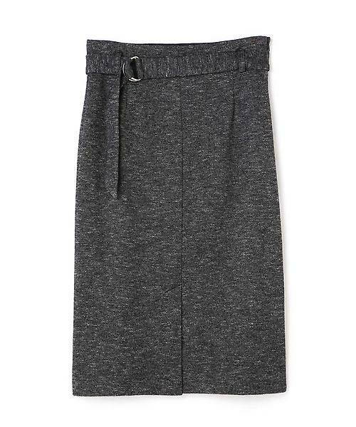 22 OCTOBRE / ヴァンドゥー・オクトーブル スカート | コットンウールジャージースカート(ブラック1)