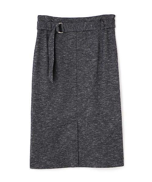 22 OCTOBRE / ヴァンドゥー・オクトーブル スカート | コットンウールジャージースカート(ネイビー1)