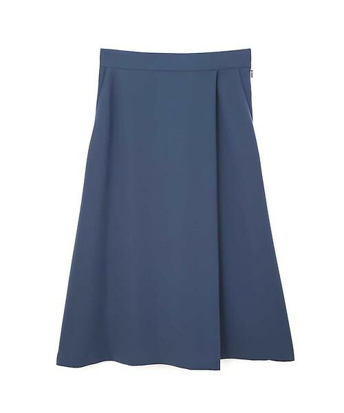 22 OCTOBRE / ヴァンドゥー・オクトーブル スカート | 平二重フレアスカート(ブルー)