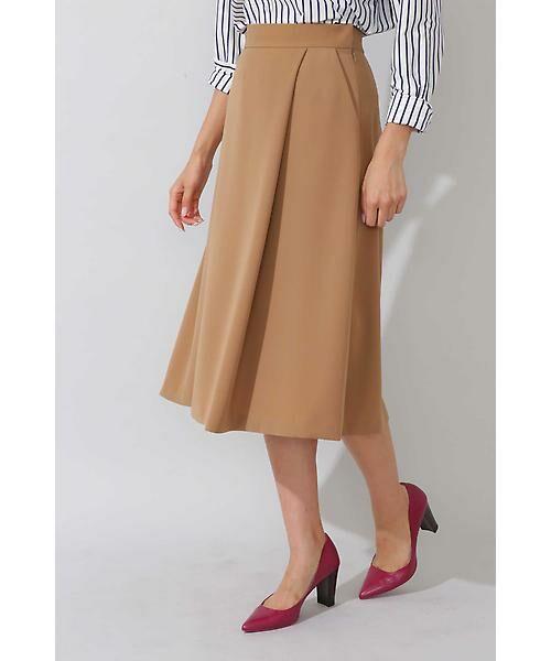 22 OCTOBRE / ヴァンドゥー・オクトーブル スカート | 平二重フレアスカート(キャメル5)