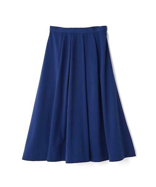 22 OCTOBRE / ヴァンドゥー・オクトーブル スカート | T/Rカラースカート(ブルー)