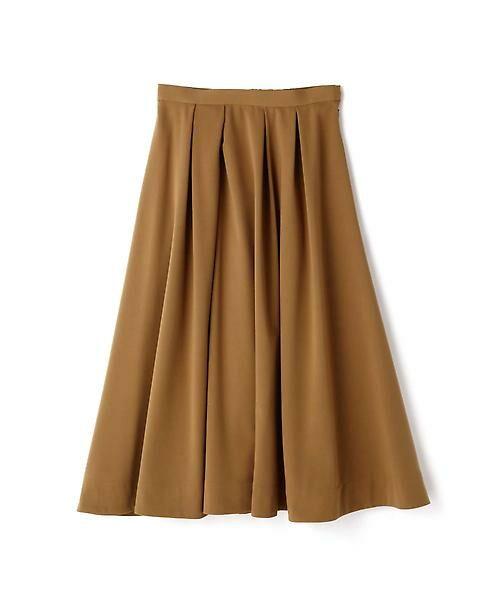 22 OCTOBRE / ヴァンドゥー・オクトーブル スカート | T/Rカラースカート(キャメル5)