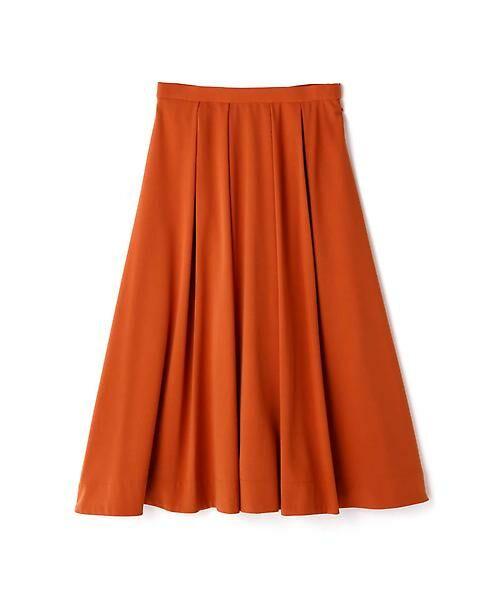 22 OCTOBRE / ヴァンドゥー・オクトーブル スカート | T/Rカラースカート(オレンジ)