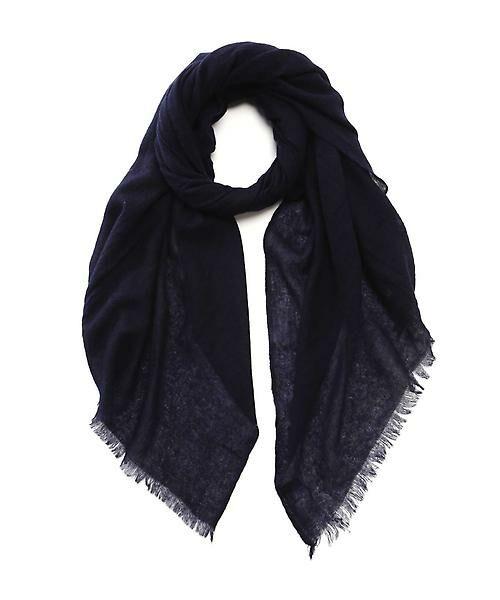 22 OCTOBRE / ヴァンドゥー・オクトーブル 服飾雑貨 | カシミヤストール(ネイビー)