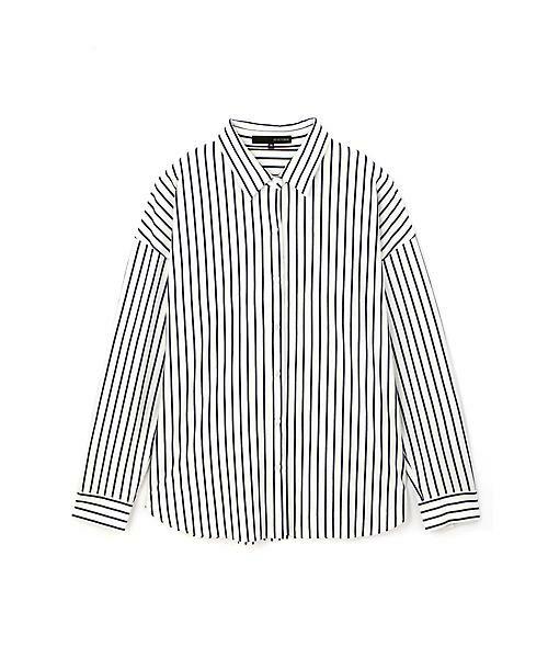22 OCTOBRE / ヴァンドゥー・オクトーブル シャツ・ブラウス | ジャージーストライプシャツ | 詳細1