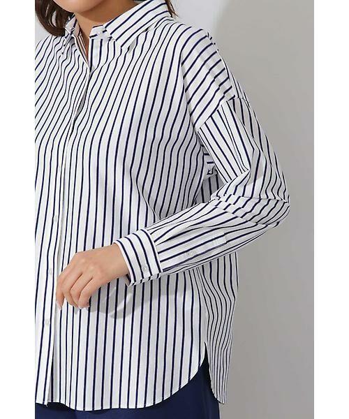 22 OCTOBRE / ヴァンドゥー・オクトーブル シャツ・ブラウス | ジャージーストライプシャツ | 詳細5