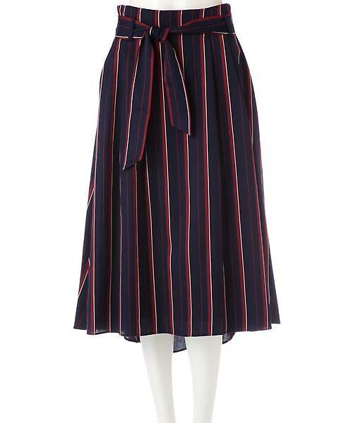22 OCTOBRE / ヴァンドゥー・オクトーブル スカート | [WEB限定商品]マルチストライプフィッシュテールスカート | 詳細2