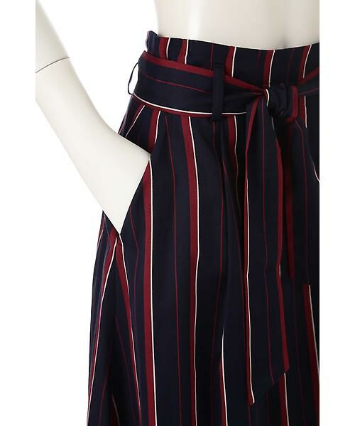 22 OCTOBRE / ヴァンドゥー・オクトーブル スカート | [WEB限定商品]マルチストライプフィッシュテールスカート | 詳細7