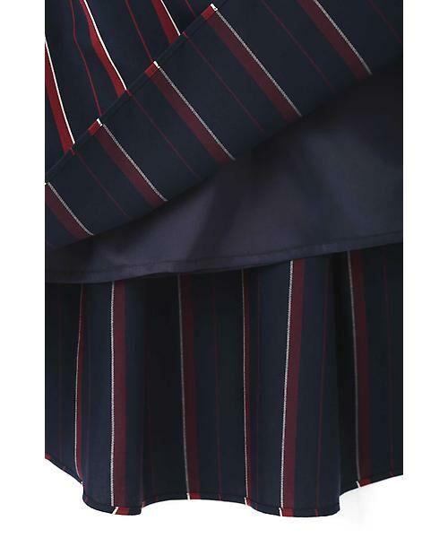 22 OCTOBRE / ヴァンドゥー・オクトーブル スカート | [WEB限定商品]マルチストライプフィッシュテールスカート | 詳細9