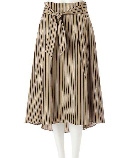 22 OCTOBRE / ヴァンドゥー・オクトーブル スカート | [WEB限定商品]マルチストライプフィッシュテールスカート | 詳細11