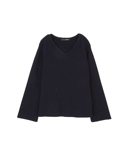 22 OCTOBRE / ヴァンドゥー・オクトーブル ニット・セーター | ◆スリットスリーブニット(ネイビー)