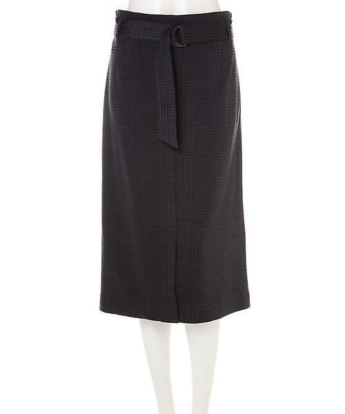 22 OCTOBRE / ヴァンドゥー・オクトーブル スカート | グレンチェックジャカードスカート | 詳細1