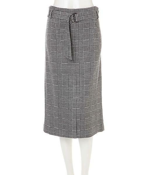 22 OCTOBRE / ヴァンドゥー・オクトーブル スカート | グレンチェックジャカードスカート | 詳細11