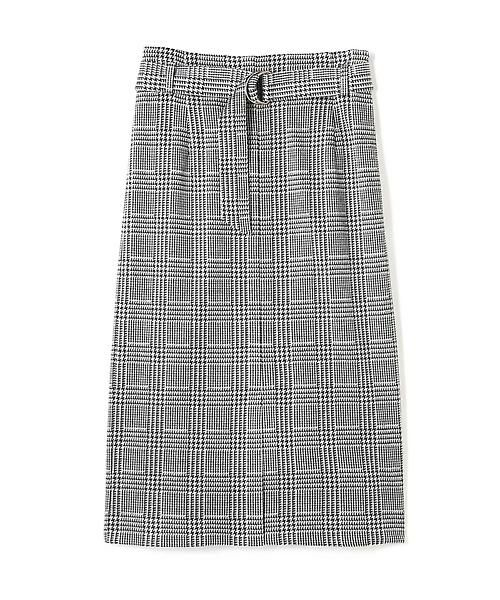 22 OCTOBRE / ヴァンドゥー・オクトーブル スカート | グレンチェックジャカードスカート(グレー)