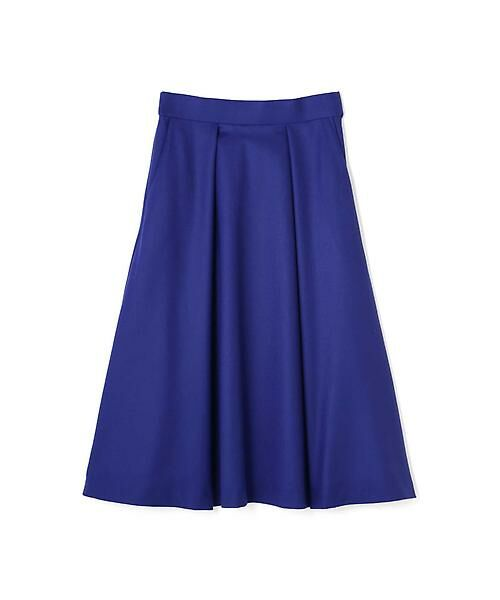 22 OCTOBRE / ヴァンドゥー・オクトーブル スカート | ハイカウントフラノフレアスカート(ブルー)