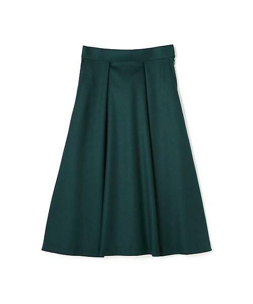 22 OCTOBRE / ヴァンドゥー・オクトーブル スカート | ハイカウントフラノフレアスカート(グリーン)
