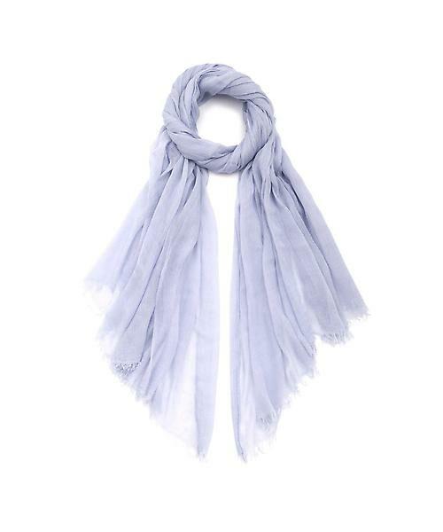 22 OCTOBRE / ヴァンドゥー・オクトーブル 服飾雑貨 | モダール大判ストール(ブルー)